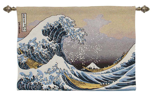 Wall Hanging-Great Wave of Kanagawa | Home decor, Wall art 68x100cm | WH-JP-GWK
