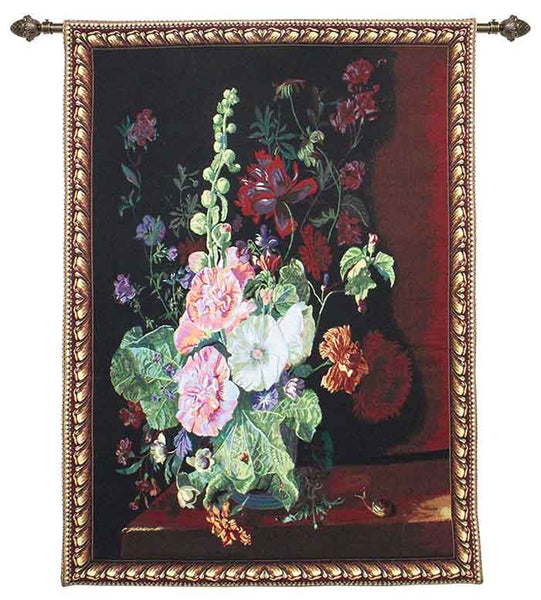 Jan Van Huysum Wall Hanging | Vase of Flowers Tapestry Wall Art 139x101cm | WH-JVH-HOLL