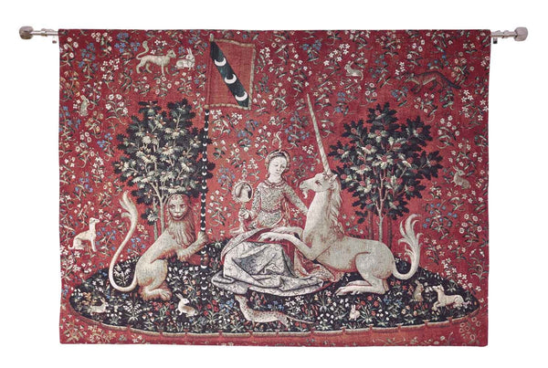 Wall Hanging-Lady & Unicorn Sense of Sight | Home decor, Wall art - 2 sizes | WH-LU-SI