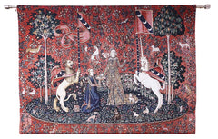 sense of taste lady and unicorn good quality tapestry
