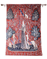 sense of touch lady and unicorn good quality tapestry