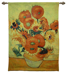 van gogh sunflowers tapestry