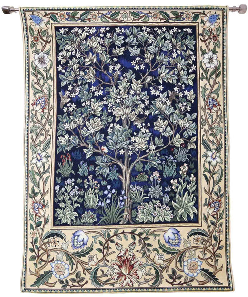 Wall Hanging-Morris Tree of Life Blue | Home decor, Wall art - 2 sizes | WH-WM-TLBL-1
