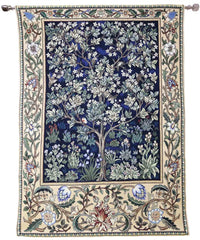 william morris tree of life blue tapestry wall hangings
