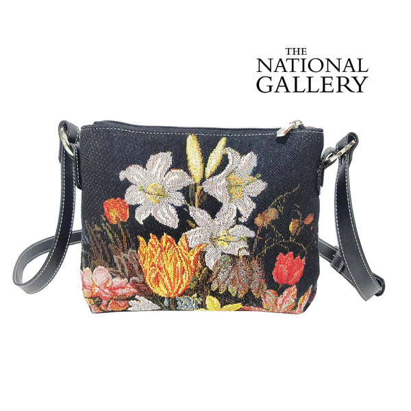 A Still Life In A Van-Li Vase | Cross Body Bag | Womens Tapestry Cross Shoulder Bag | XB02-ART-AB-STILL