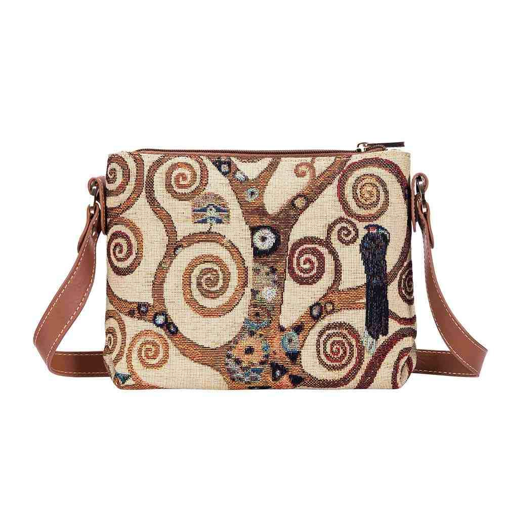 Gustav Klimt Tree of Life Cross Body Bag | Ladies Cross Body Bags | XB02-ART-GK-TREE