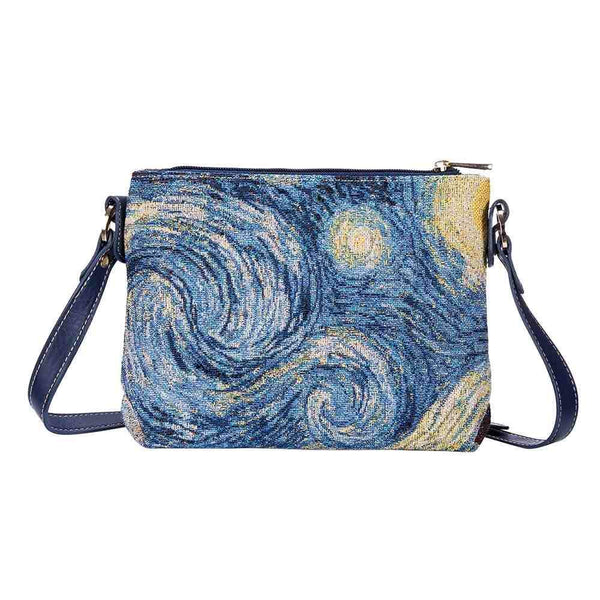 Van Gogh Starry Night Cross Body Bag | Art Painting Tapestry Shoulder Bag | XB02-ART-VG-STAR
