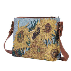Van Gogh Sunflower Floral Crossbody Bag | Tapestry Art Shoulder Bag | XB02-ART-VG-SUNF