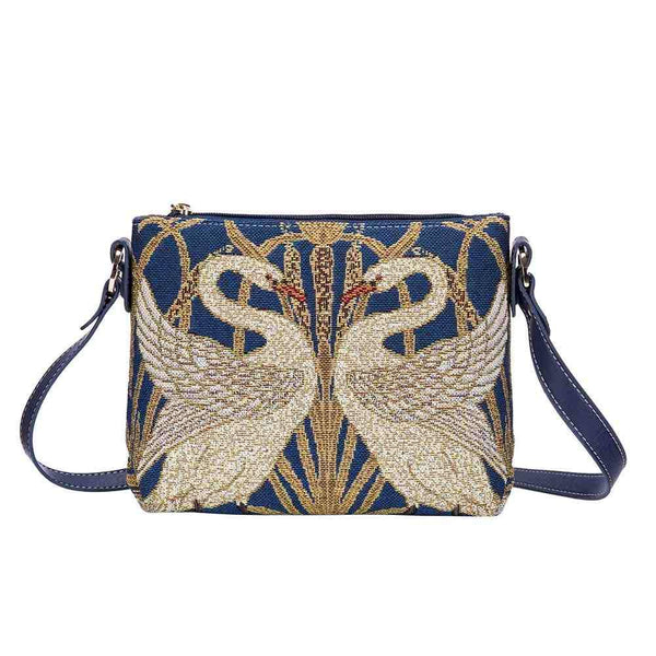 Walter Crane Swan Cross Body Bag | Art Painting Tapestry Shoulder Bag | XB02-ART-WC-SWAN