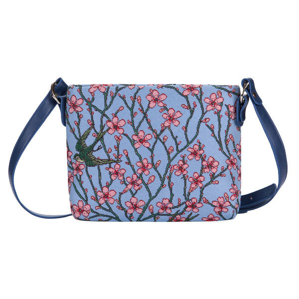 Almond Blossom and Swallow Crossbody Bag | Floral Ladies Cross Body Bags | XB02-BLOS