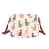 Cheeky Cat Crossbody Bag | Stylish Tapestry Shoulder Handbag | XB02-CHEKY
