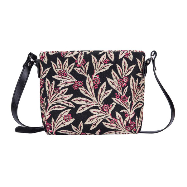 Golden Fern Cross Body Bag | Floral Tapestry Shoulder Handbag | XB02-GFERN