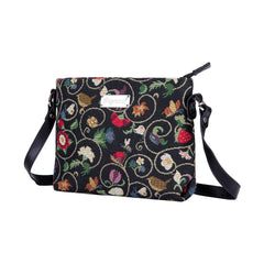 Jacobean Dream Cross Body Bag | Black Shoulder Bags for Women | XB02-JACOB
