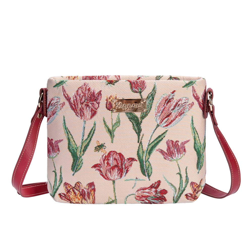 Marrel's Tulip White Cross Body Bag | Floral Cross Shoulder Bag | XB02-JMTWT