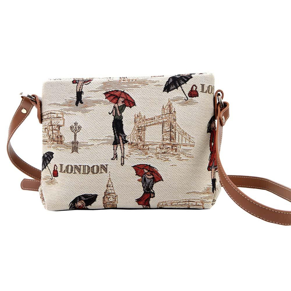 Miss London Cross Body Bag | Tapestry Ladies Crossbody Bags | XB02-MSLN
