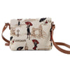 Miss London Cross Body Bag | Stylish Tapestry Shoulder Handbag | XB02-MSLN