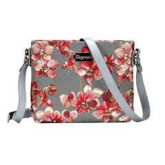 Orchid Cross Body Bag | Floral Tapestry Shoulder Handbag | XB02-ORC