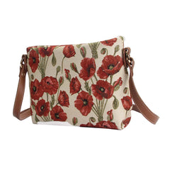Poppy Cross Body Bag | Floral Stylish Fashion Shoulder Strap Handbag | XB02-POP