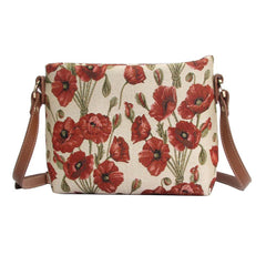 Poppy Cross Body Bag | Floral Crossbody Bag Tapestry | XB02-POP