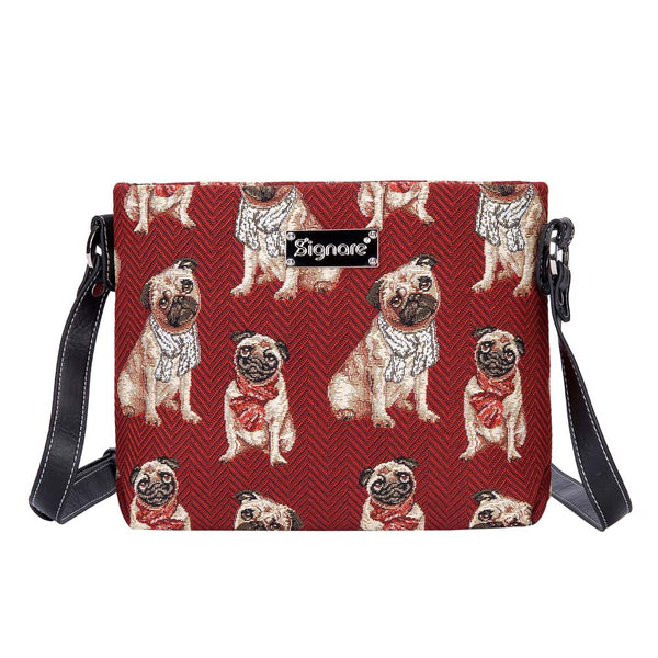 Pug Crossbody Bag | Women's Stylish Tapestry Shoulder Bag | Cute Pugs | XB02-PUG
