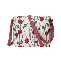 Mackintosh Rose Cross Body Bag | Floral Satchel Crossbody Bag | XB02-RMSP