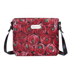 Mackintosh Rose and Teardrop Cross Body Bag | Floral Tapestry Art Shoulder Long-Strap | XB02-RMTD