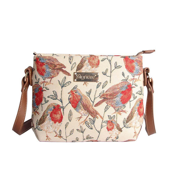 Robin Cross Body Bag | Stylish Tapestry Shoulder Handbag | XB02-ROB