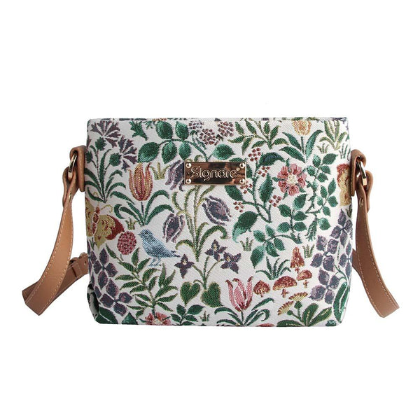 Spring Flowers Cross Body Bag | Floral Tapestry Art Shoulder Bag | XB02-SPFL