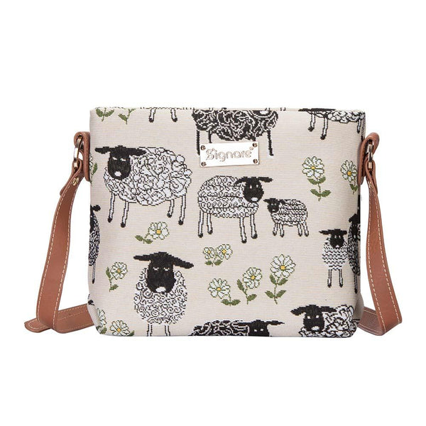 Spring Lamb Cross Body Bag | Ladies Tapestry Shoulder Bag | XB02-SPLM