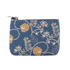 Jane Austen Blue Zip Coin Purse | Tapestry Blue Coin Purses | ZIPC-AUST
