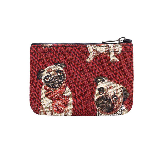 Pug Zip Coin Purse | Cute Dog Tapestry Coin Pouch Wallet | ZIPC-PUG