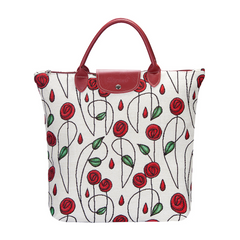 Mackintosh Rose Foldaway Shopping Bag | Floral Tapestry Foldable Bag | FDAW-RMSP