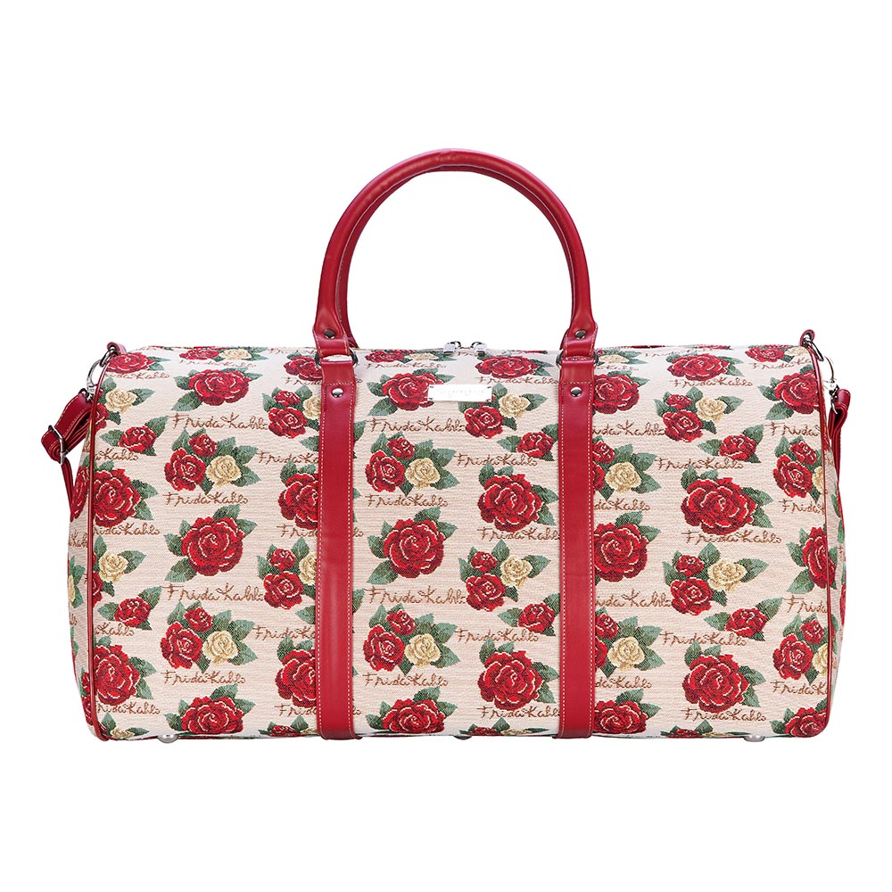 Frida Kahlo Rose Big Holdall | Floral Luggage Sport Travel Bag | BHOLD-FKROSE