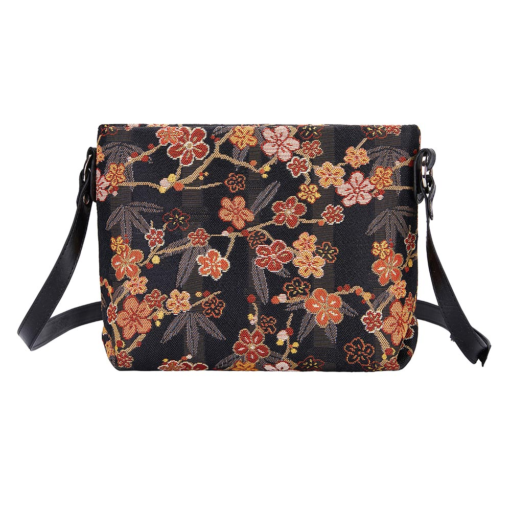 Ume Sakura Cross Body Bag | Floral Tapestry Shoulder Handbag | XB02-SAKURA