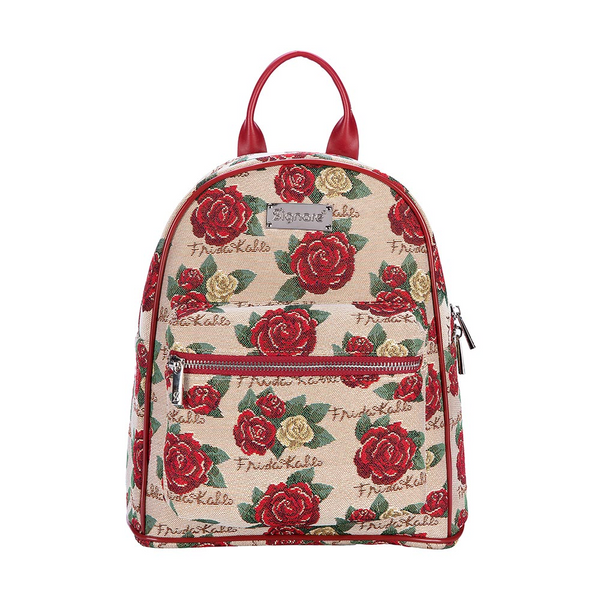 Frida Kahlo Rose Daypack | Floral Small Backpack | DAPK-FKROSE