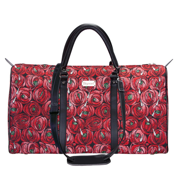 Mackintosh Rose and Teardrop Big Holdall | Floral Art Tapestry Large Holdall | BHOLD-RMTD