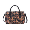 Ume Sakura Travel Bag | Black Floral Travel Luggage | TRAV-SAKURA