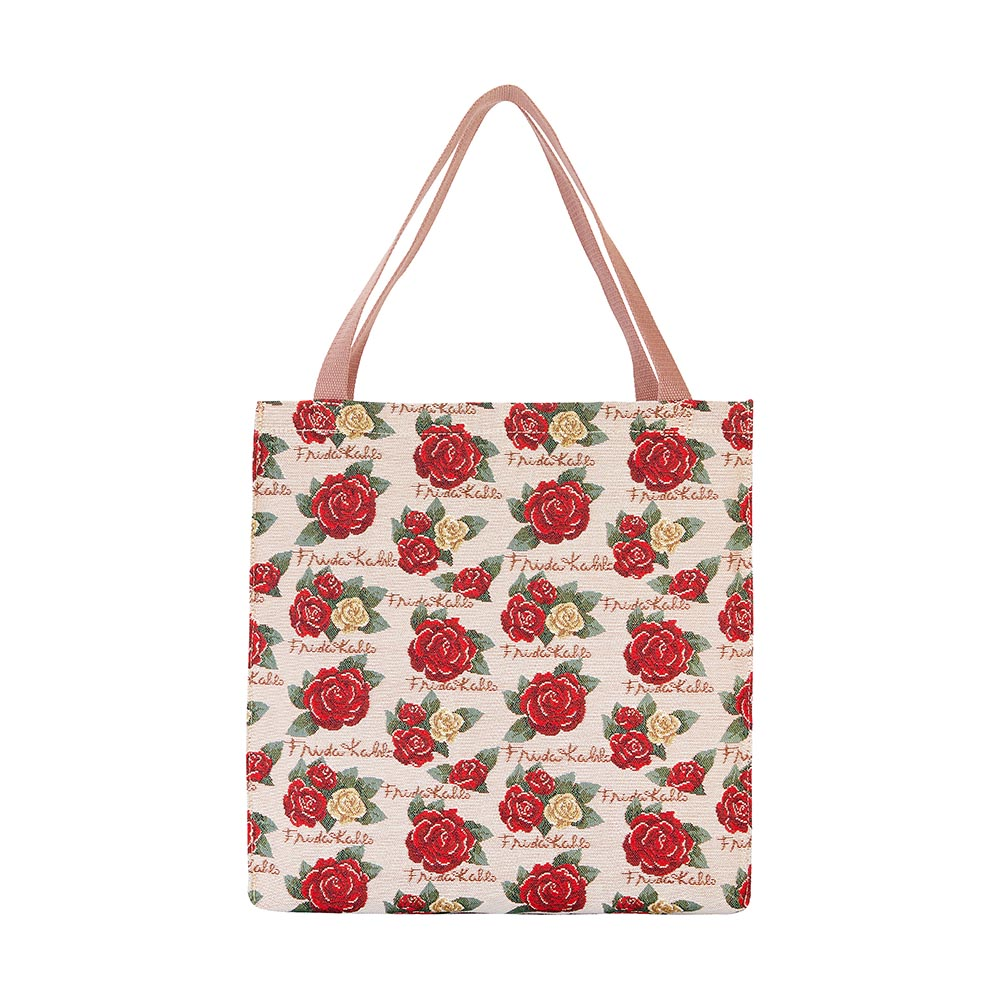 Frida Kahlo Rose Gusset Bag | Blue Foldable Bag | GUSS-FKROSE