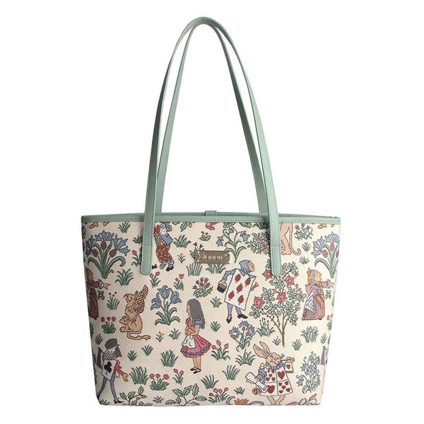Alice in Wonderland Shoulder Tote Bag | Tapestry Shoulder Handbags | COLL-ALICE