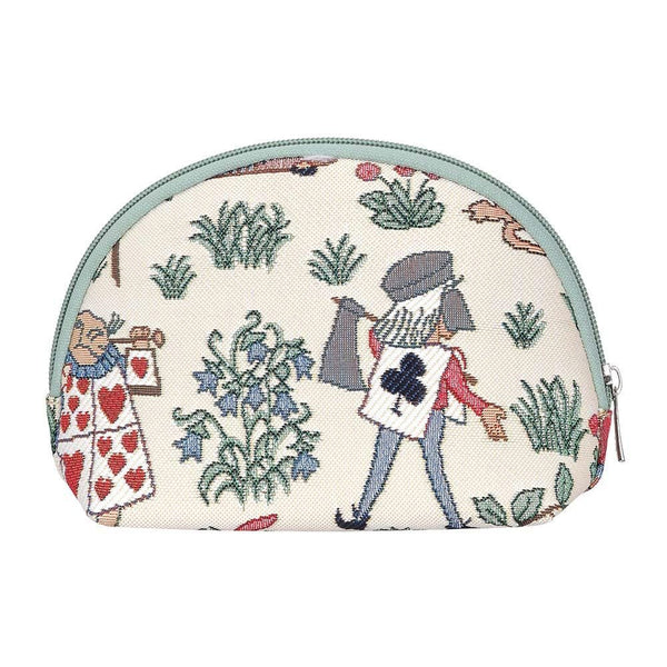 Alice in Wonderland Cosmetic Bag | Designer Art Makeup Toiletry Travel Case | COSM-ALICE