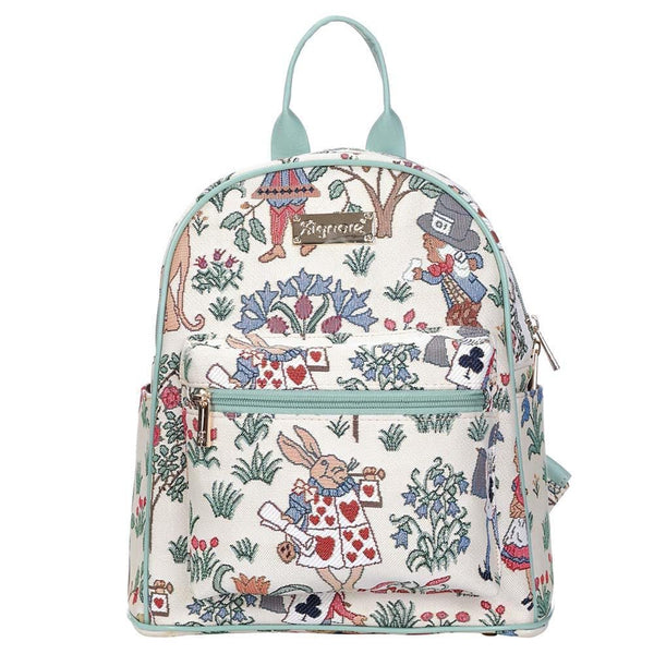 Alice in Wonderland Casual Daypack | Tapestry Small Womens Backpack | DAPK-ALICE