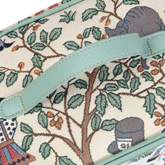 Alice in Wonderland Makeup Bag | Tapestry Travel Makeup Case | TOIL-ALICE