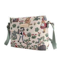 Alice in Wonderland Cross Body Bag | Womens Tapestry Cross Shoulder Bag | XB02-ALICE