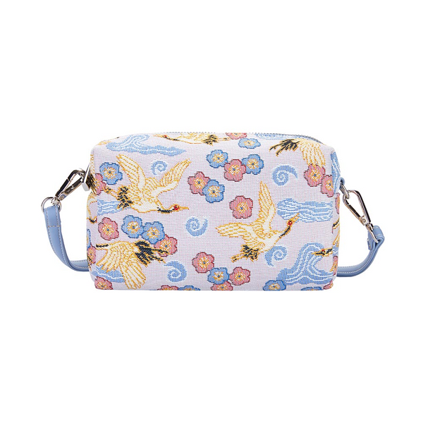 Japanese Crane Hip Bag | Blue Cross Shoulder Bag | HPBG-CRANE