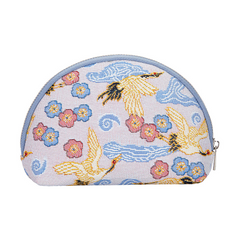 Japanese Crane Cosmetic Bag | Tapestry Makeup Case | COSM-CRANE