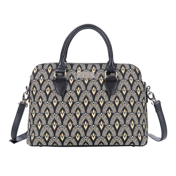 Luxor Triple Compartment Bag | Art Deco Womens Handbag | TRIP-LUXOR