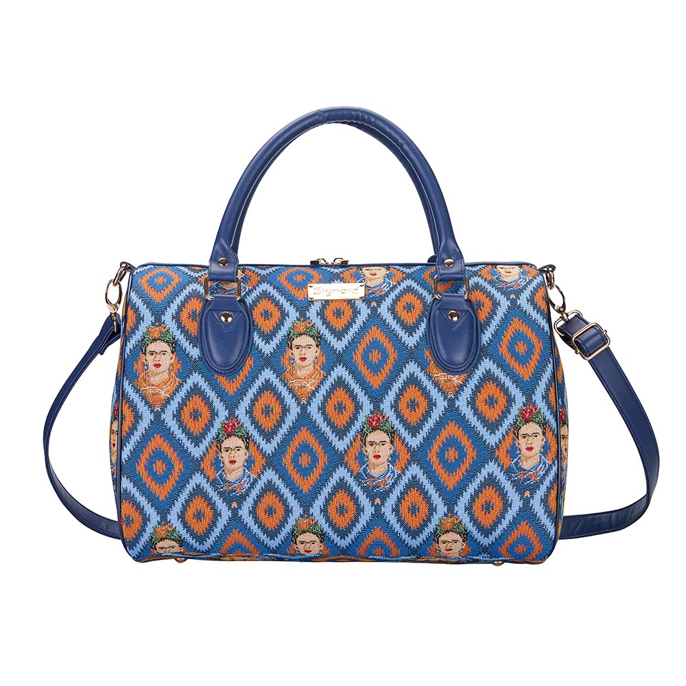 Frida Kahlo Icon Travel Bag | Blue Weekend Bag | TRAV-FKICON