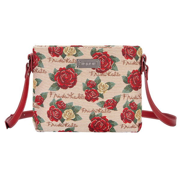 Frida Kahlo Rose Crossbody Bag | Floral Cross Body Bags | XB02-FKROSE