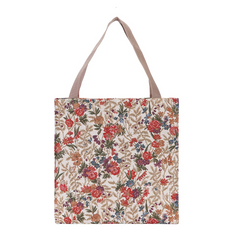 Flower Meadow Gusset Bag | Floral Tapestry Foldable Bag | GUSS-FLMD