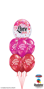 Luxury Sweet Valentine Message Bubble ( 1 Bubble, 6 Latex)